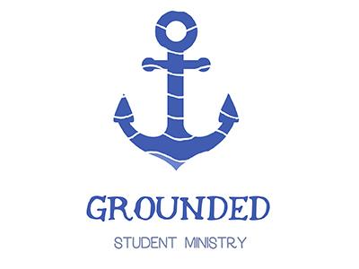 Grounded Student Ministry Logo holy spirit spirit faith based jesus faith christian youth group student ministry youth ministry waves anchor grounded