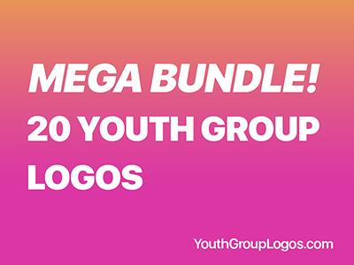 20 Youth Group Logos Mega Bundle Download