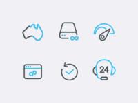 Hosting Icons Set