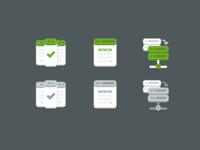Web Hosting Transfer icons