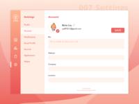#007 Settings