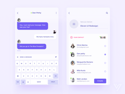 Chat App concept social messages work meeting ux ui mobile dashboard clean chat app