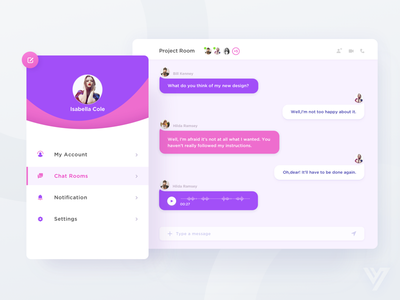 Messaging Page  group chat module web ux ui module flat chat application app