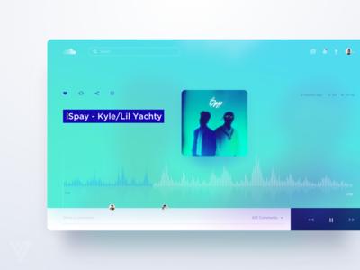 Soundcloud website web wave ui soundcloud simple player play music dashboard clean app