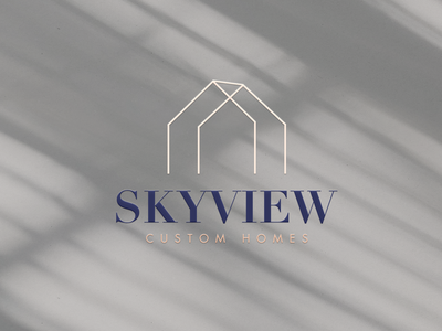 Home Builder Branding and Website squarespace design squarespace builder brand builder logo skyview home builder atlanta branding
