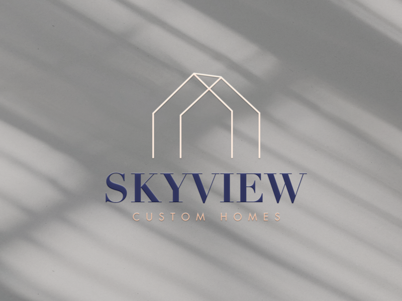 Home Builder Branding and Website squarespace design squarespace builder brand builder logo skyview home builder atlanta branding