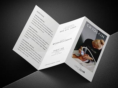 CryoClub Brochure Design layout minimalist design cryotherapy brochure layout brochure design brochure