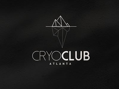 CryoClub Logo minimalist logo atlanta cryotherapy brand identity brand design logo design logo