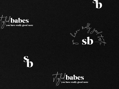Alternative marks for a boutique branding project clothing brand boutique logo ecommerce boutique client work atlanta graphic design branding
