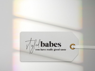 Styled Babes Tag ecommerce design boutique brand identity branding apparel tag design