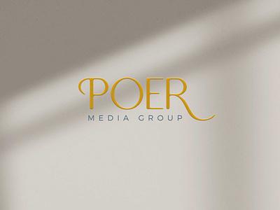 Poer Media Group - Social Media Management Logo Design social media marketing brand identity brand design branding design