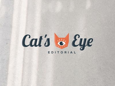 Cat's Eye Editorial Logo Design cats eye illustration flat design client work atlanta logo graphic design branding