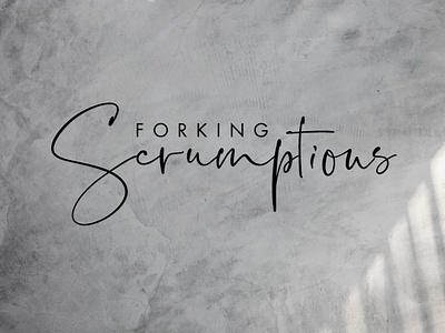 Forking Scrumptious Food Blogger atlanta flat design fitness graphic design logo branding blogging influencer blogger food blogger