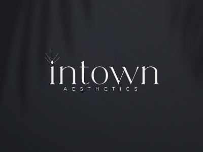 Intown Aesthetics Branding medical branding plastic surgery aesthetics flat design typography atlanta graphic design logo branding