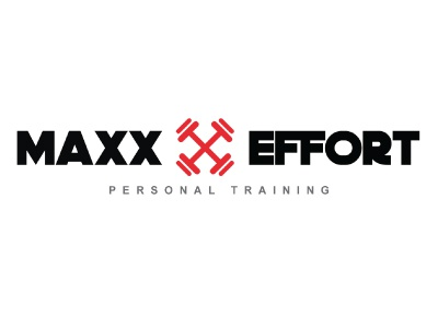 Maxx Effort Personal Training Logo Option 2 weight lifting gym branding fitness personal trainer personal training florida gym branding logo