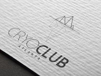Cryo Club Logo Design Cryotheraphy Athlete Recovery Branding