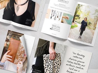 Jewelry Logo Design Catalog Branding Layout Magazine Design boho design atlanta designer catalog layout magazine layout jewelry designer logo