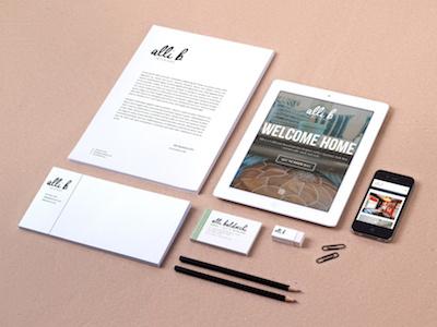 Alli B California Interior Designer Logo Website Branding boho designer hand lettered california designer interior design branding logo