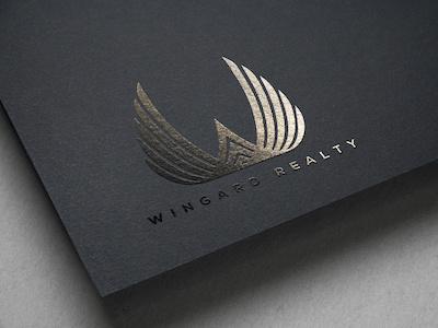Wingard Real Estate Logo Design w logo matte black logo matte black branding real estate branding logo design real estate