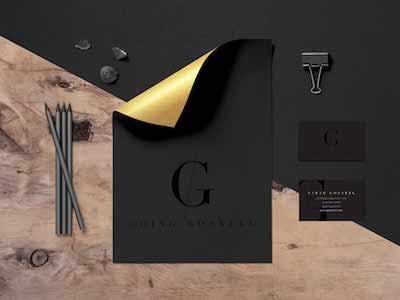 Atlanta Blogger Graphic Design Branding Gold Foil Black On Black g logo design logo design black and gold going gosnell black on black gold foil blog branding atlanta lifestyle blog fashion blogger