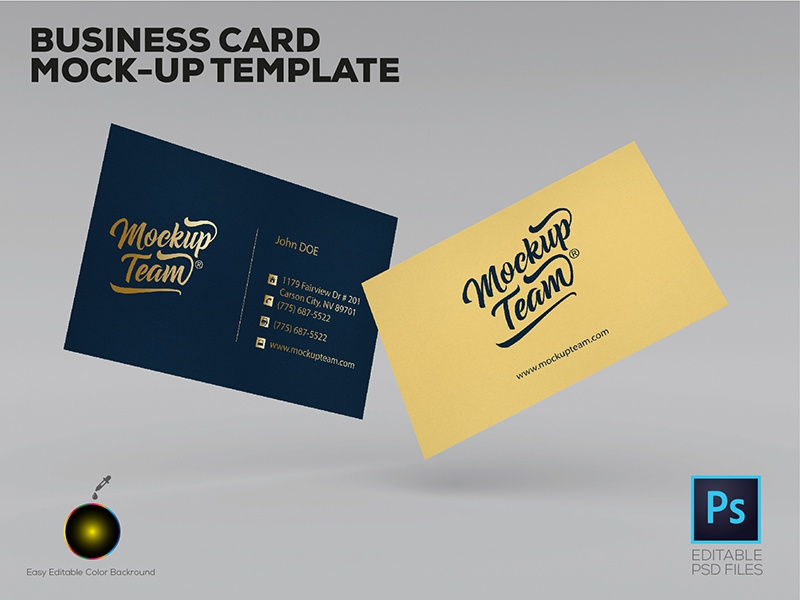 Business card mockup template by mockupteam dribbble dribbblee 01 accmission Images