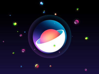Galaxy galaxy infographic logo vector loop animation design illustration 3d 2d motion design aftereffects