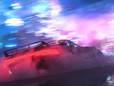 Cyberpunk Street concept design motion aftereffects cinema4d octane render 3d cyberpunk
