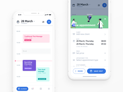 CalendarApp ui planning crm ux meeting calendar reminder datepicker dashboard creator popup modal popover interface product design application ui availability appointment events scheduler
