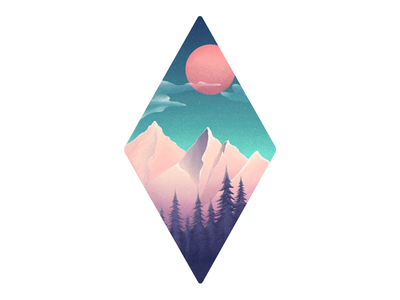 Adventure is calling - Illustration mountains ui ux design adventure texture landing color vector illustration hero gradient
