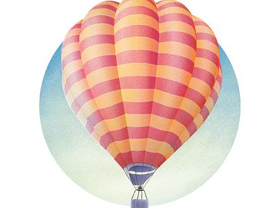 Balloon candy vector ui texture balloon landing illustration hero gradient design colorful adventure