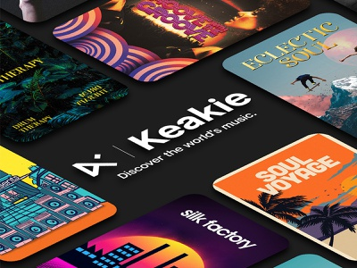 Keakie | Discover the worlds music tech adobe graphic design discover product design product podcast concept visual logo artwork branding graphic design creative streaming app music app radio music