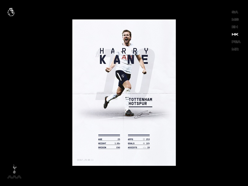 The Top 6 - Harry Kane dribbble shot premier league visual communication information design infographic type typogaphy poster a day poster design art direction spurs tottenham poster football concept visual graphic design creative branding