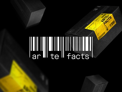 Artefacts graphic design identity minimal black music adobe branding graphic artwork visual design creative concept