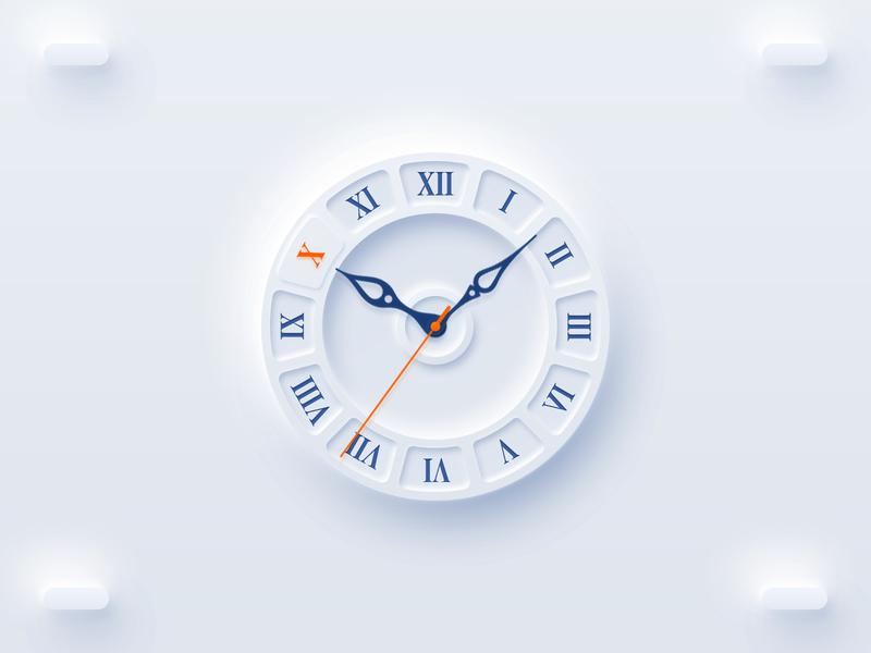 Neumorghism watch UI watchos dial design watch ui neumorghism ui