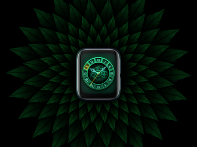 A green mechanical watch interface watch interface watchface watch dial mechanical watch ui watch