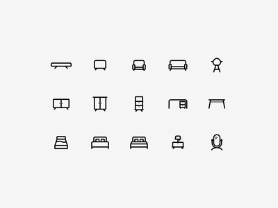 Furniture Icons icon design ui illustration vector icon