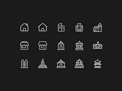 Building Icons building icon icon design vector illustration icon