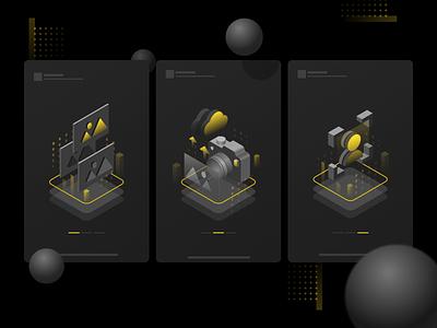 Isometric Illustrations isometric icon vector ui illustration