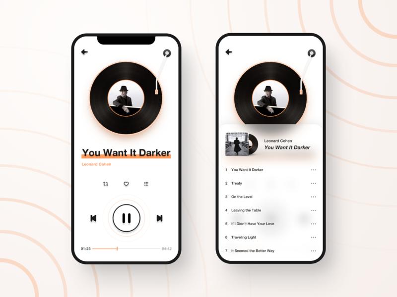 Music app UI music app ux app ui