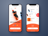 Shopping app UI practice