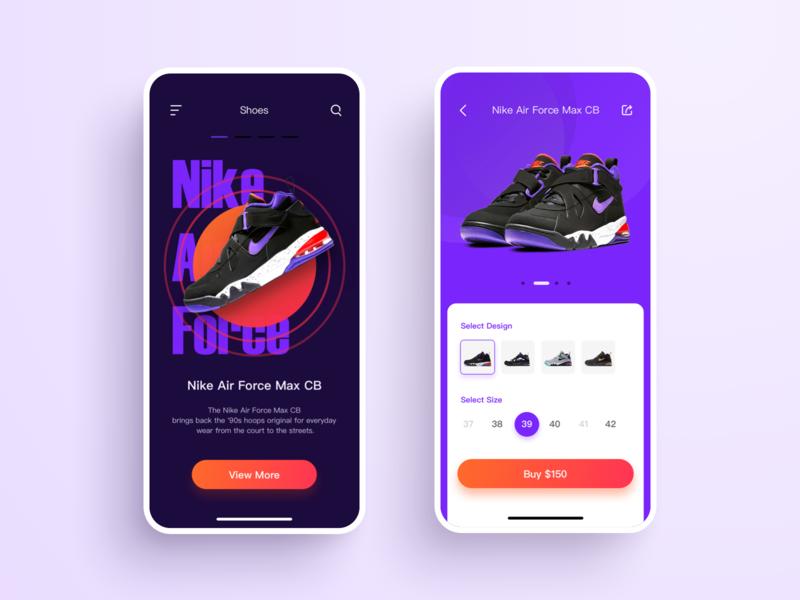 Another shoe UI design shopping app ux app ui