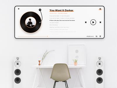 Wall music app music ui