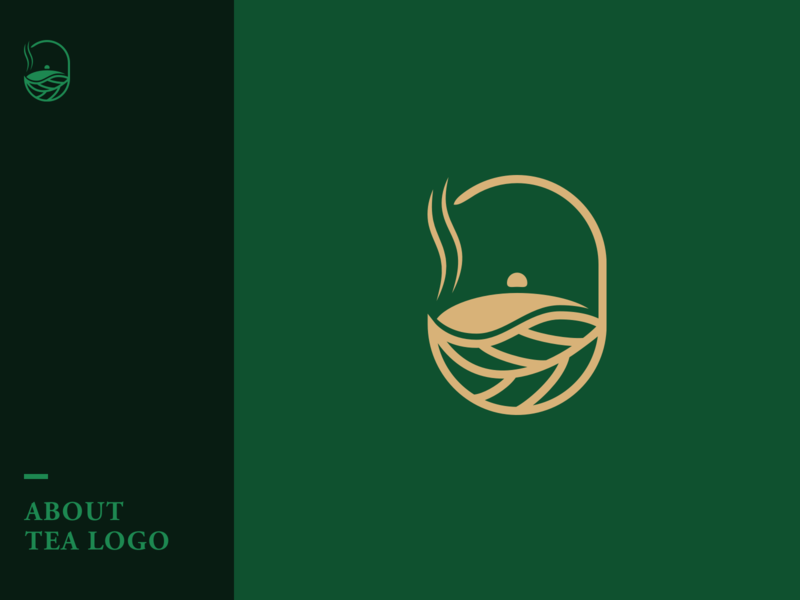 About Tea Logo tea icon vector branding logo illustration