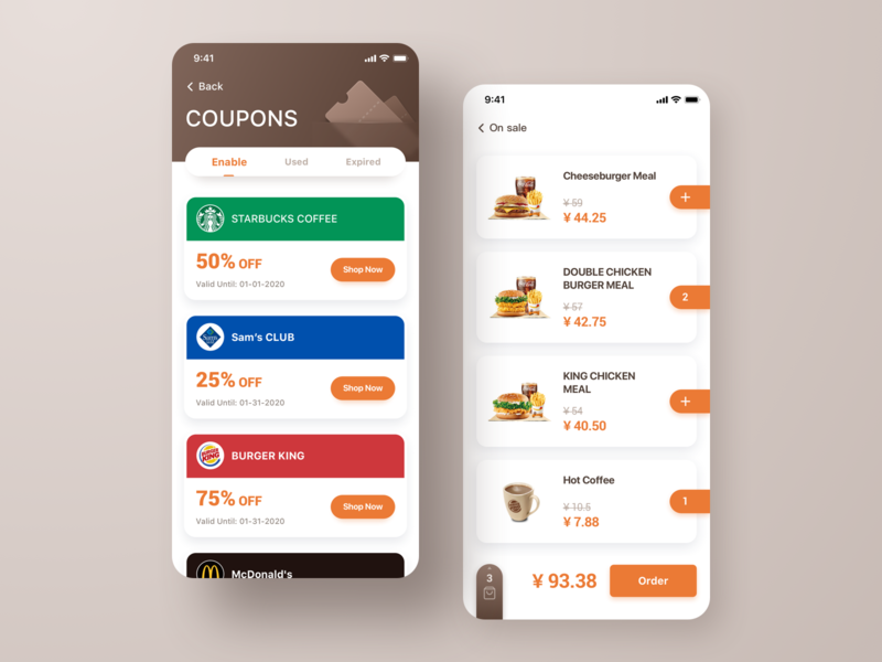 Coupons app coupon design ux ui app