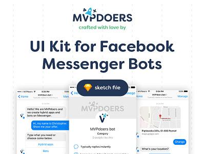 UI kit for Facebook Messenger Bots facebook mvpdoers doers mvp ui kit chatbot bot messenger