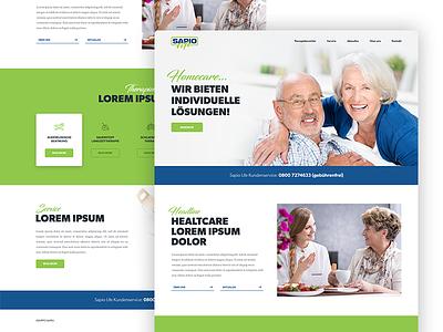 Sapio life - website redesign single page homepage typography wordpress redesign life sapio