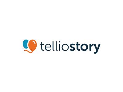 telliostory - logo event logotype book album photo create telliostory balloons story tell logo