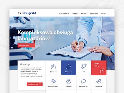 Imogena - laboratory services products company medical bactery icons webdesign website imogena services laboratory