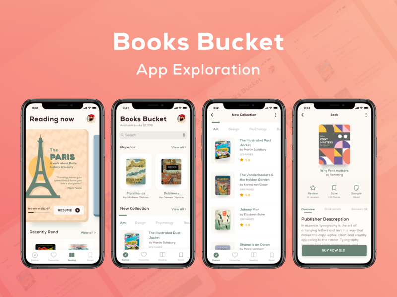 App exploration of Online Library - Books Bucket