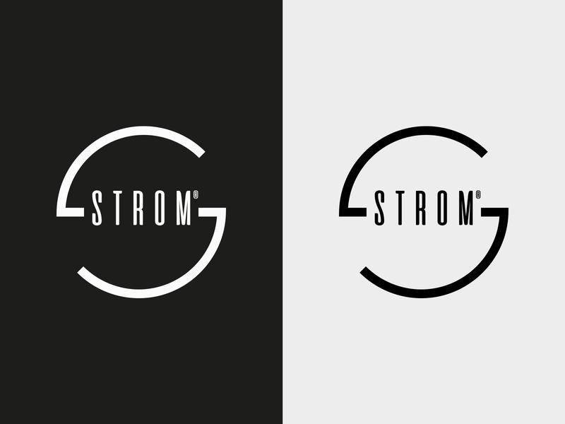 Strom Branding vector minimal denim shopping bag pattern label tag typography branding logo design